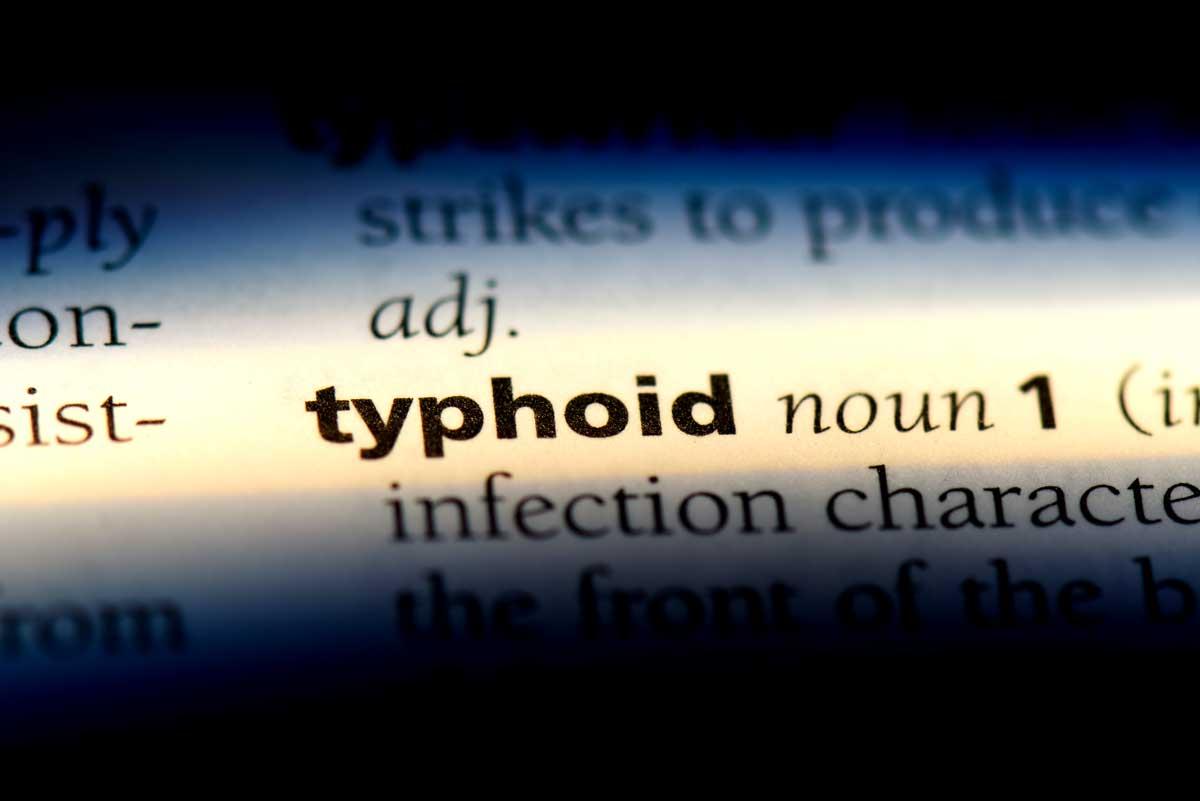 Typhus wird auf Englisch als Typhoid bezeichnet
