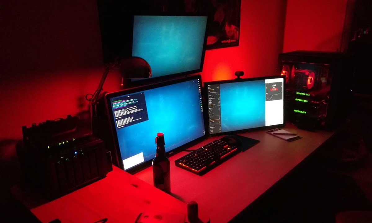 PC mit mehreren Grafikkarten (GPU)